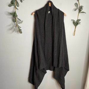 Black Sleeveless Cardigan